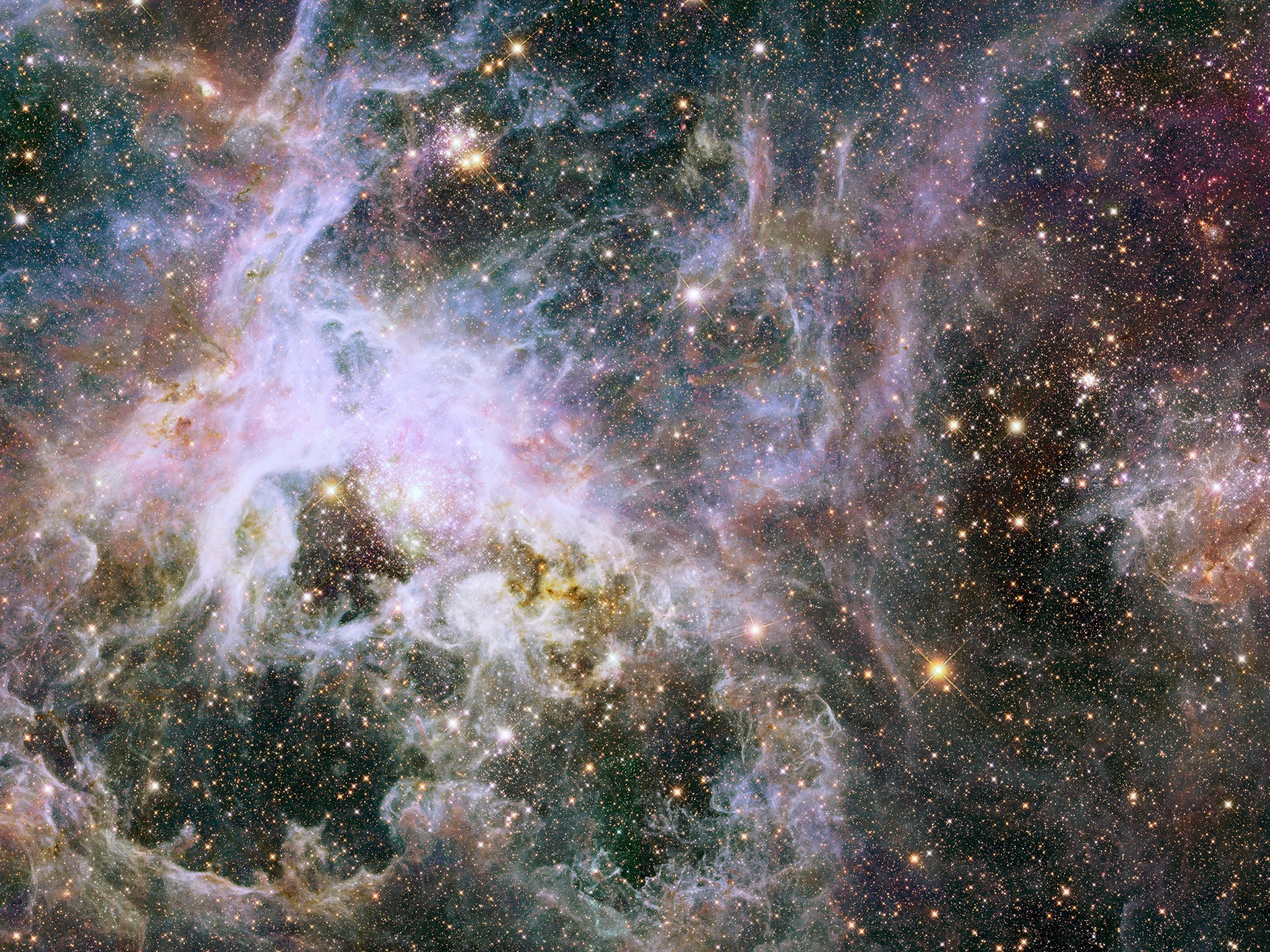Tarantula Nebula Hubble View in Infrared Light