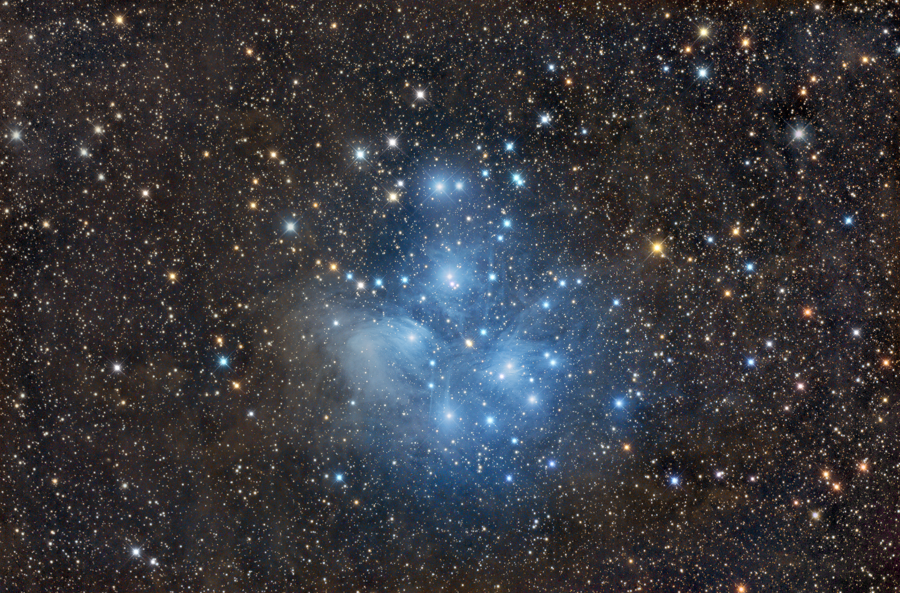 Starry Night: The Seven Sisters Shine Brilliantly in New Pleiades Photo