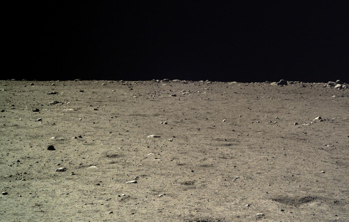 Lunar Surface Seen by Chang'e 3 Lander