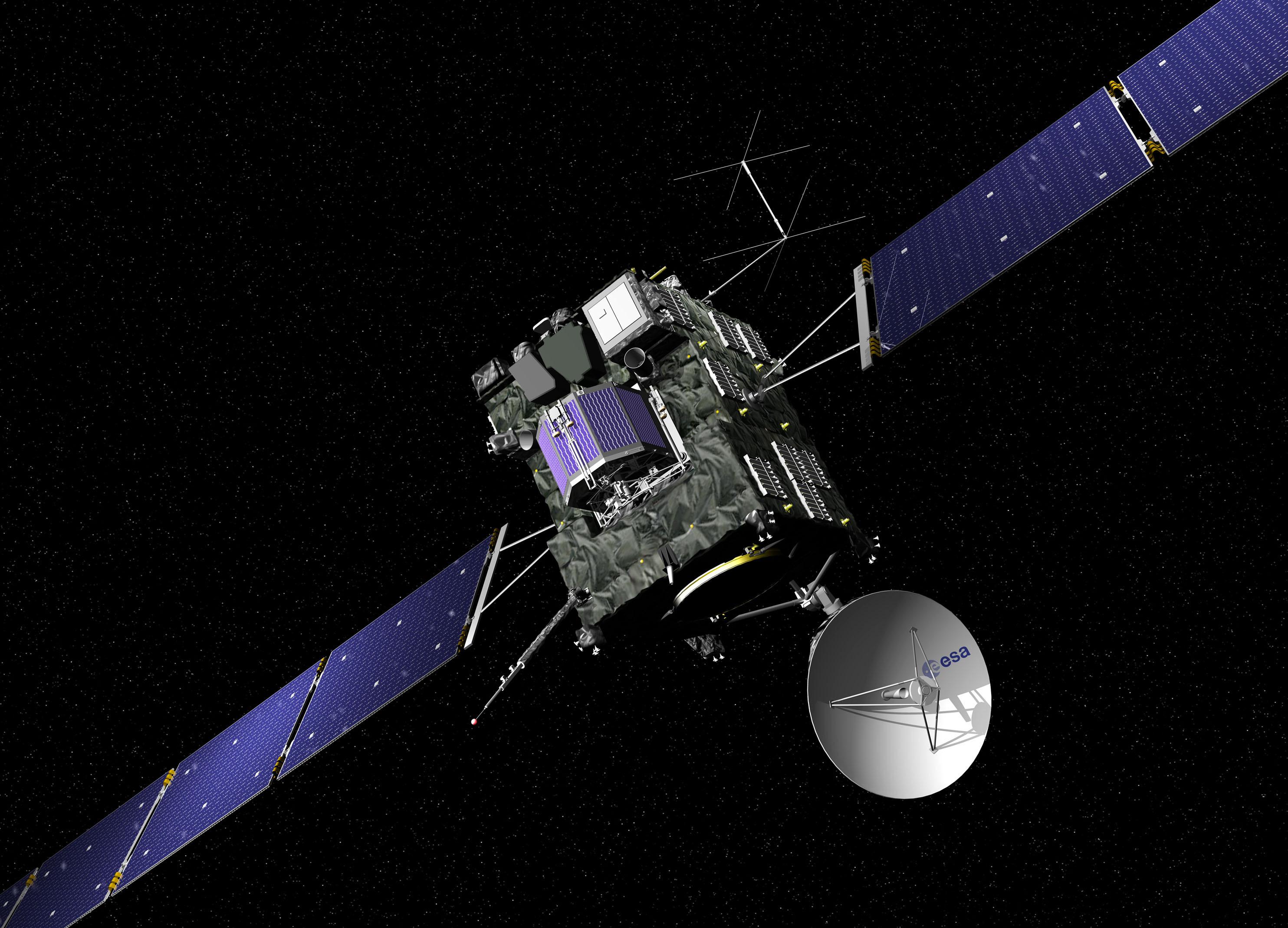 Rosetta Comet Spacecraft: Artist's View
