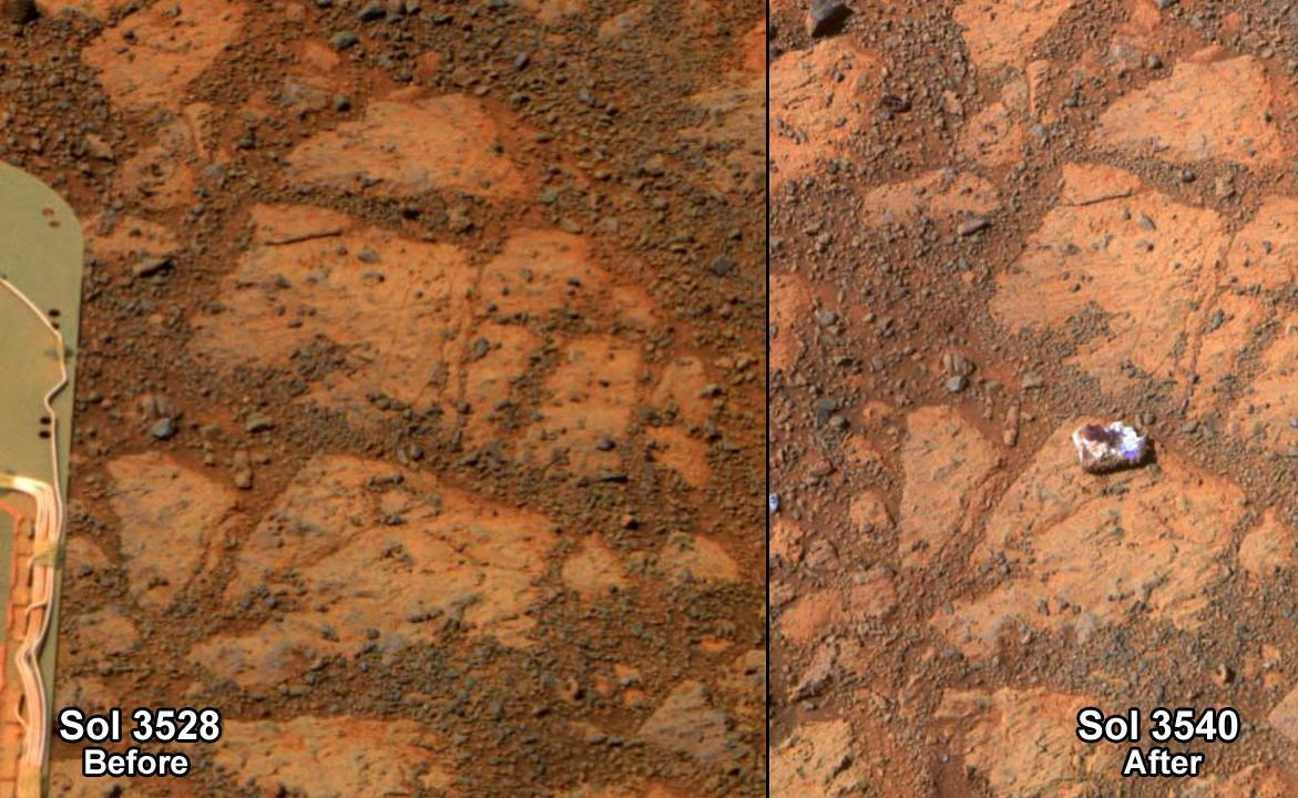 Mysterious Mars Rock Looks Like 'Jelly Donut,' Defies Explanation (Photos)