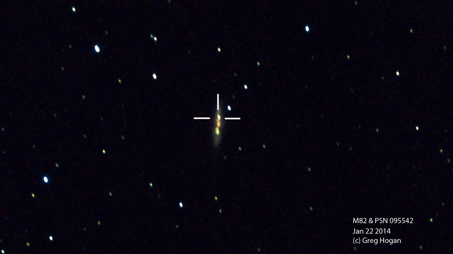 New Supernova in M82 by Greg Hogan