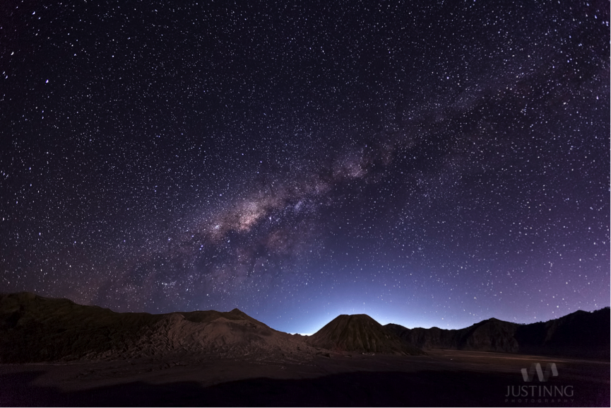 Milky Way Shines Over Mount Bromo