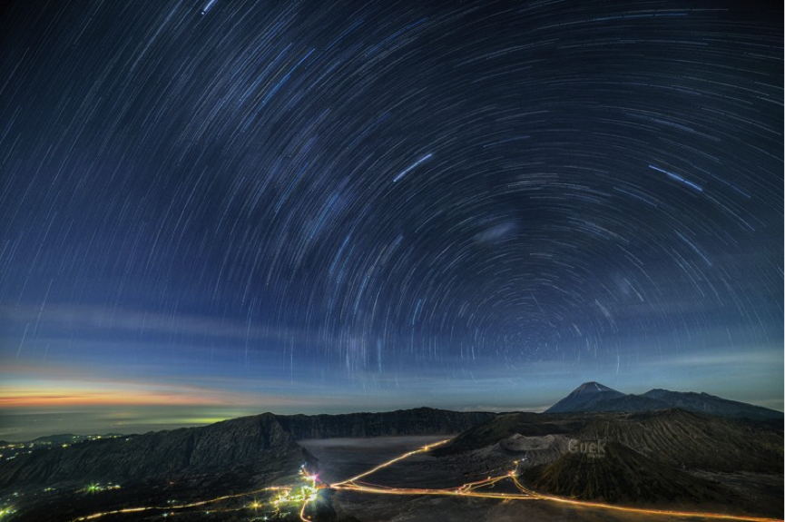 Milky Way Trails Before Sunrise