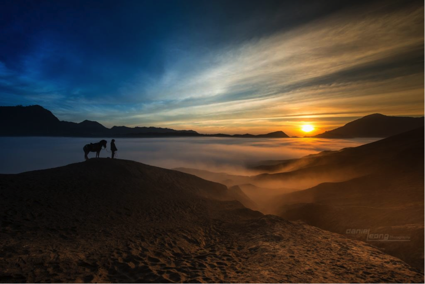 Sunrise at Mount Bromo Crater