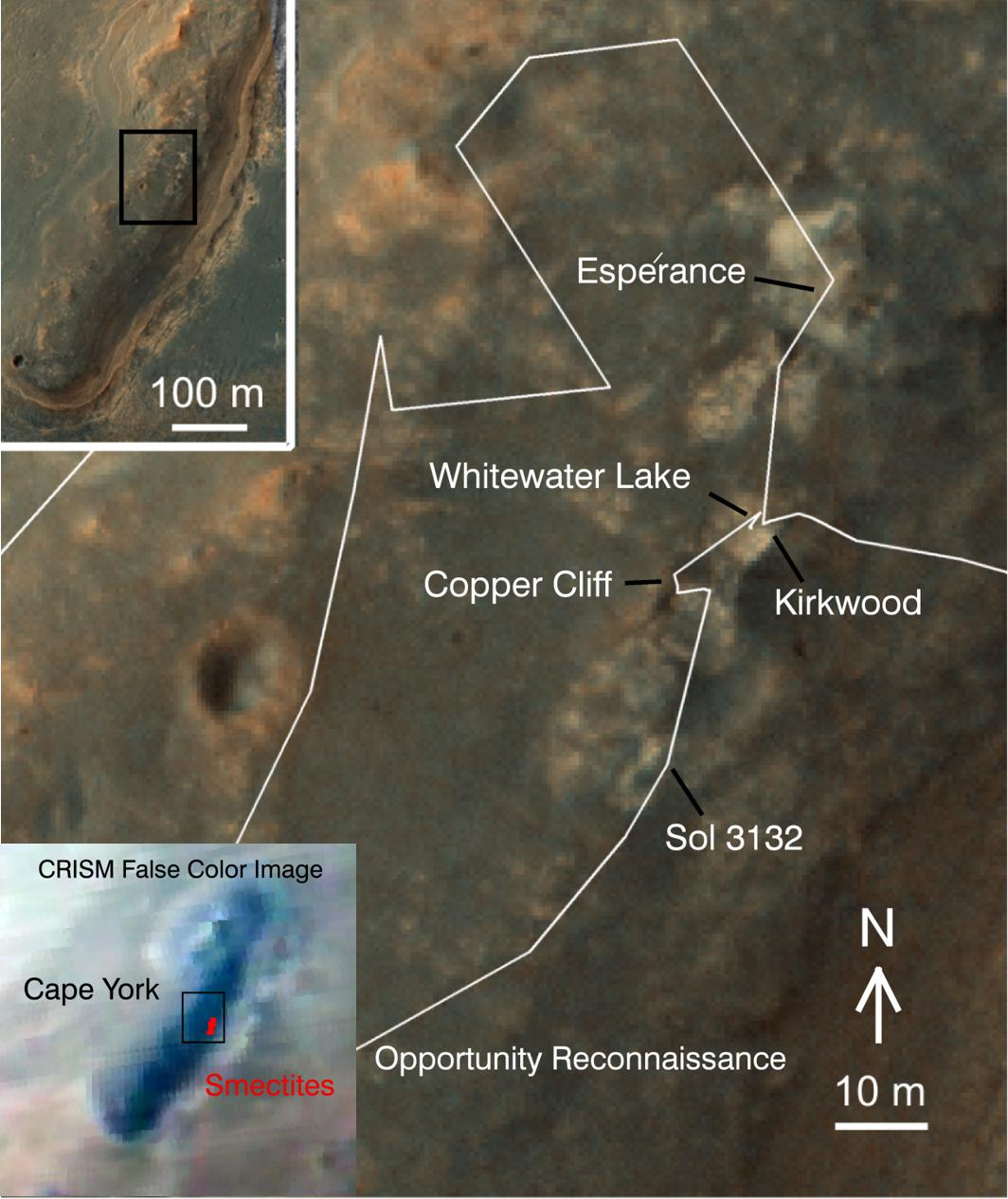 Mars Rover Opportunity's Cape York Work