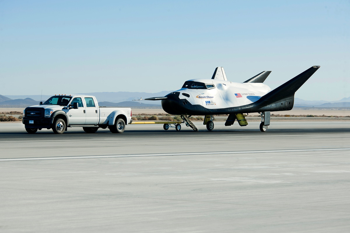 Dream Chaser Completes 60 mph Tow Test at NASA's Dryden Flight Research Center