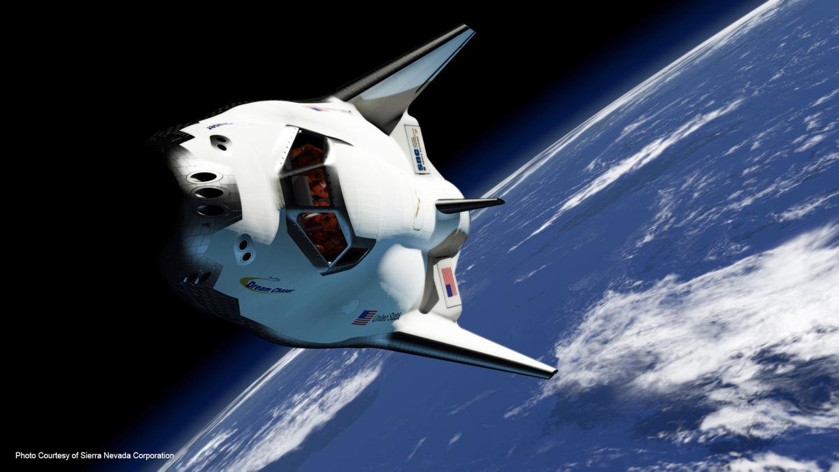Rendering of Dream Chaser in Orbit