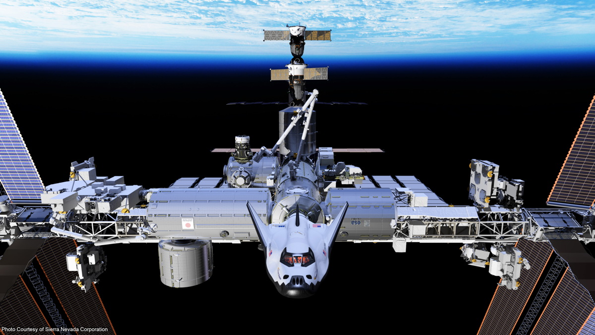 Dream Chaser Docked to ISS