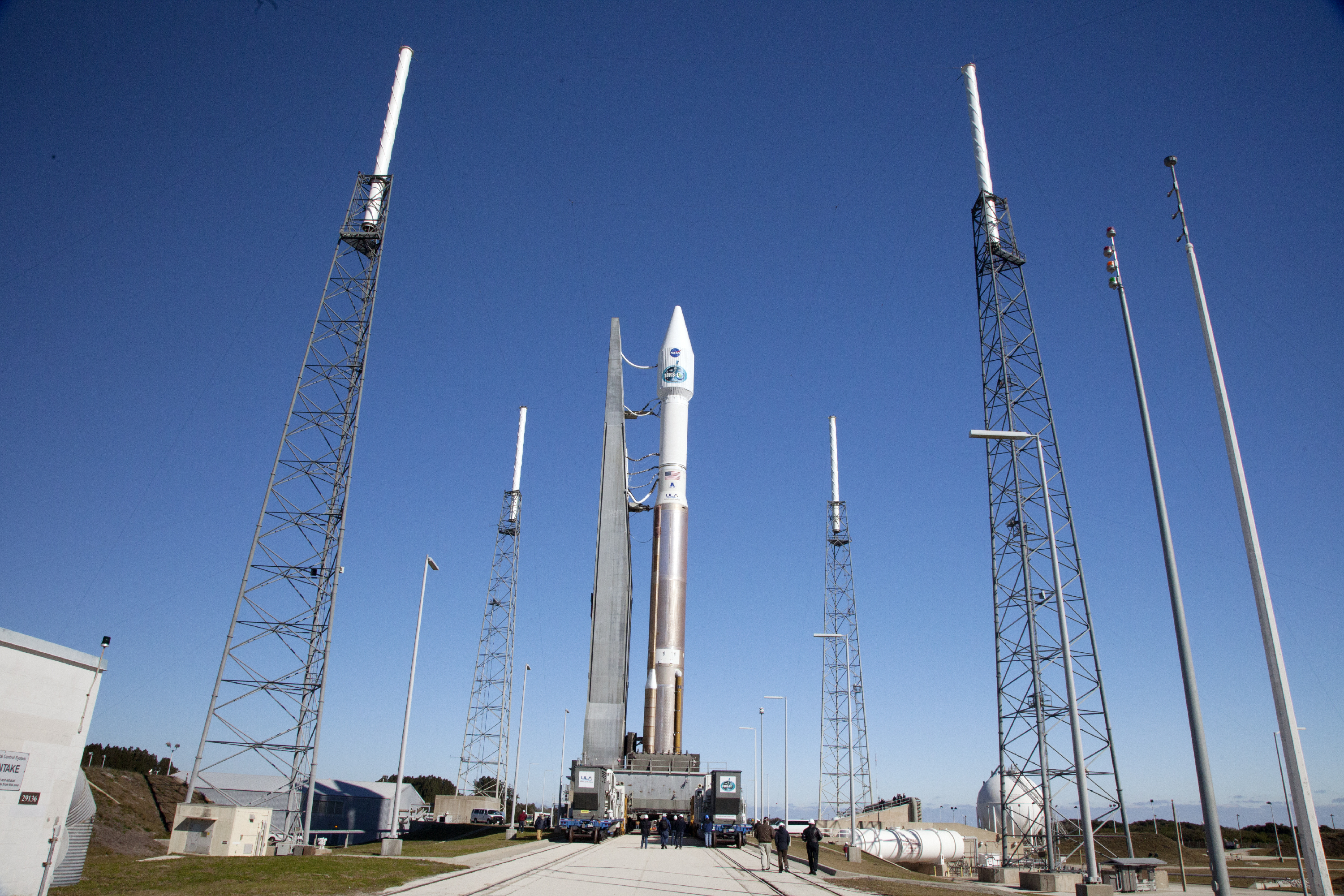 NASA TDRS-L Satellite At the Launch Pad