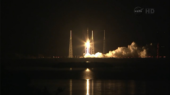 A United Launch Alliance Atlas 5 rocket lifts off carrying NASA's next-generation TDRS-L data relay satellite into orbit from Florida's Cape Canaveral Air Force Station on Jan. 23, 2014.