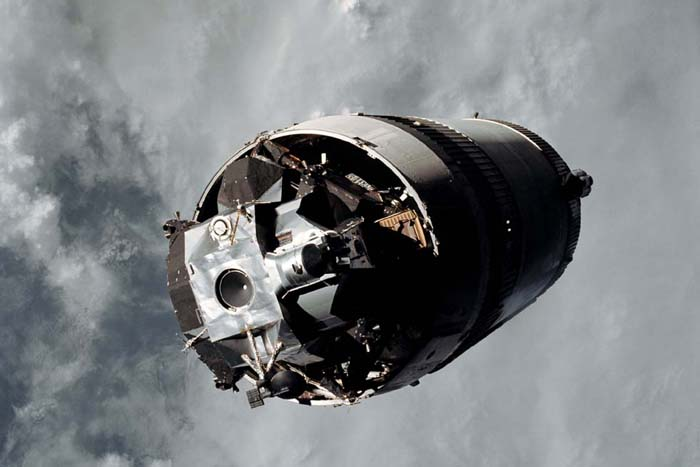 Space History Photo: Saturn V Third Stage LM  'Spider' Attached to S-IVB Stage