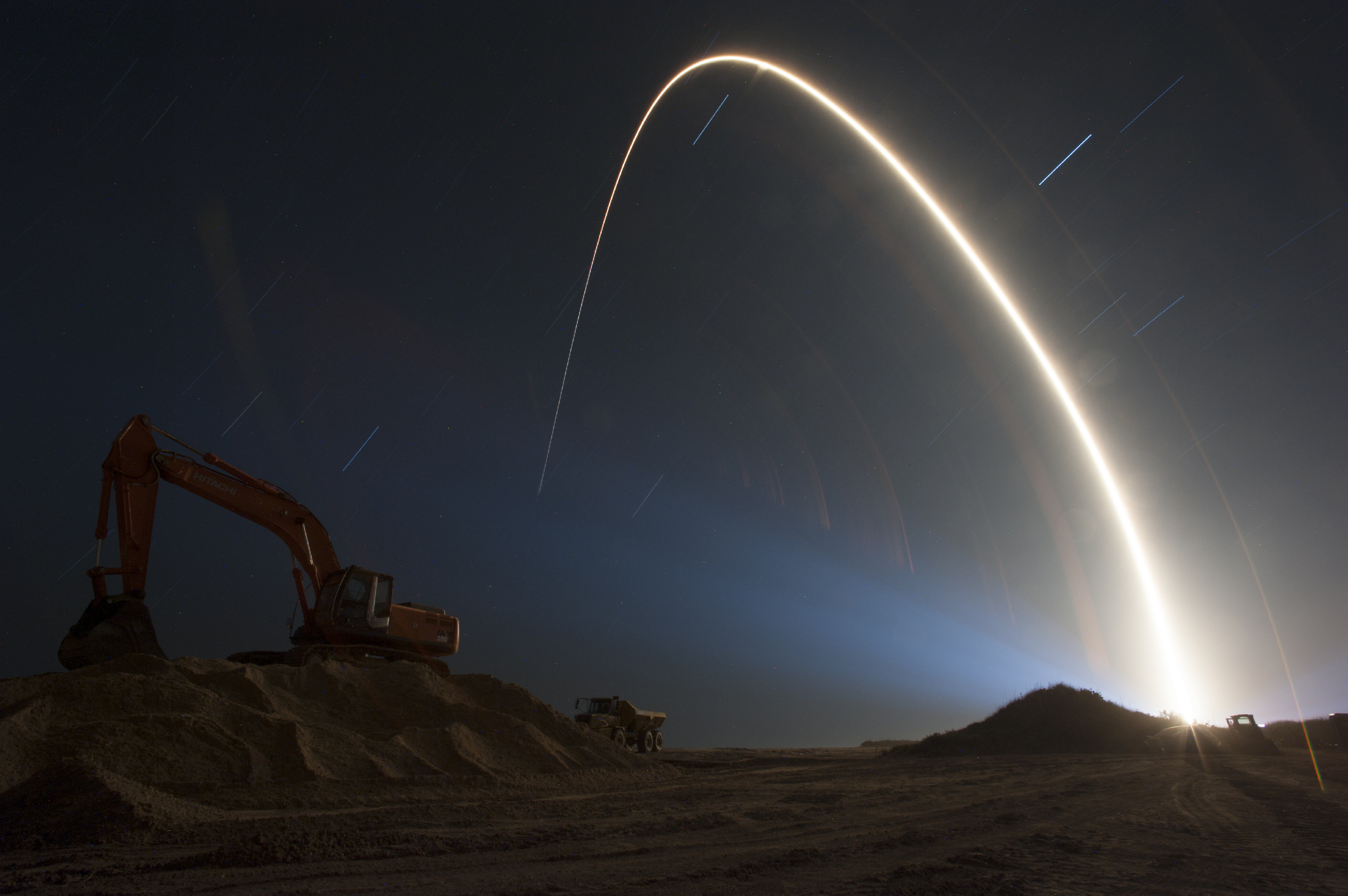 Stunning NASA Photo Shows Night Rocket Launch into Space