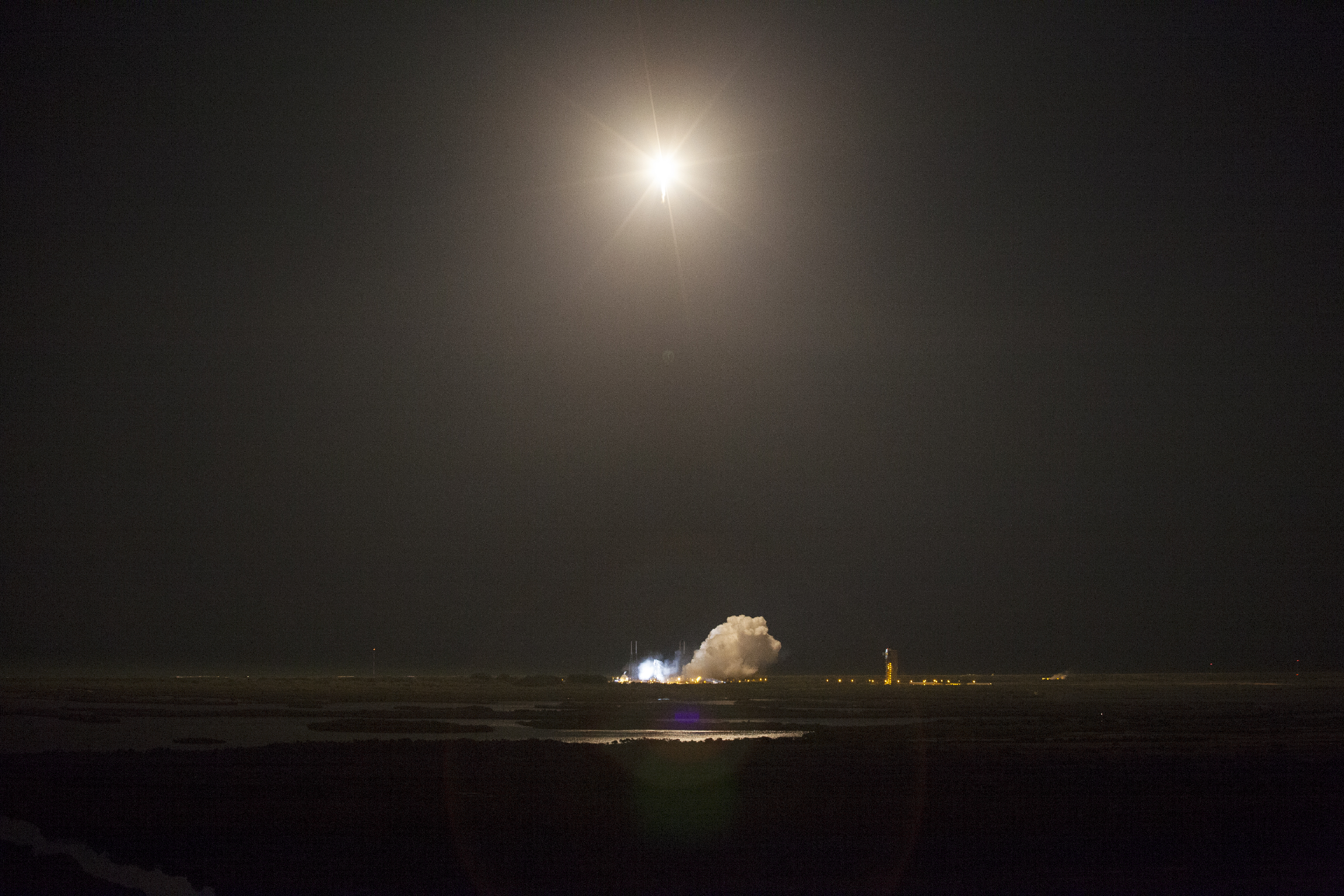 Atlas V Rocket Soars into the Night