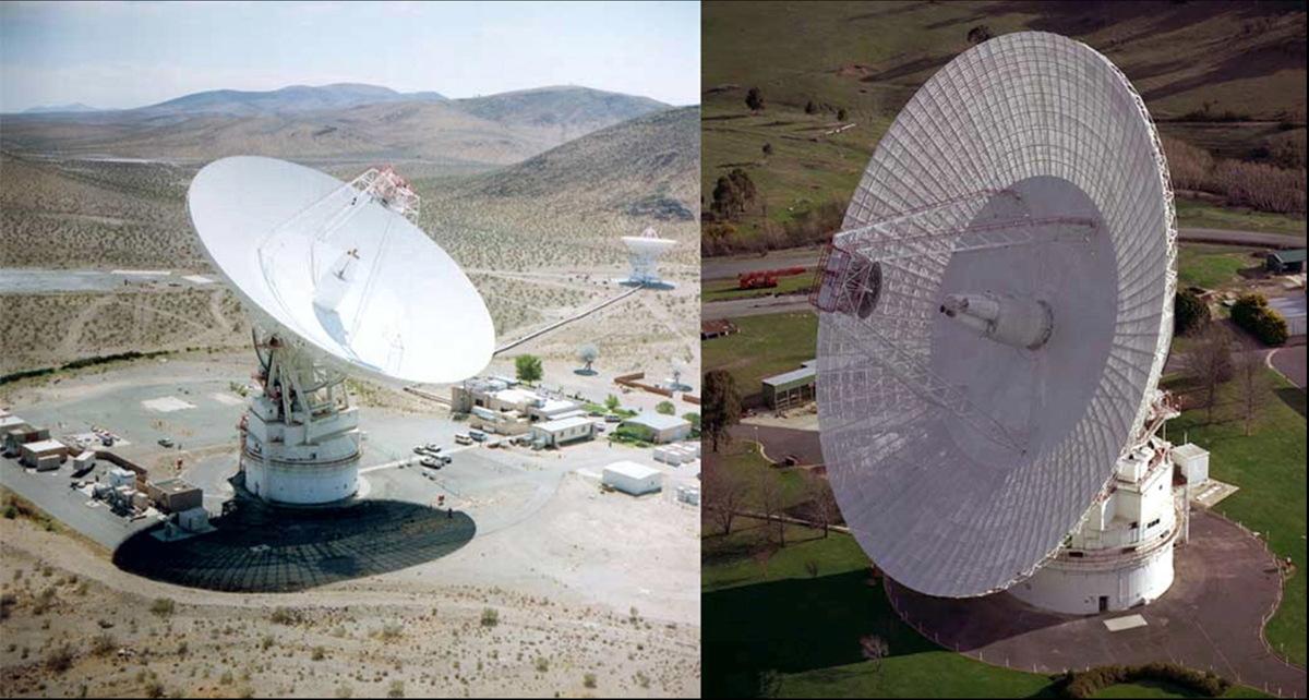 Giant Antennas Supporting Rosetta