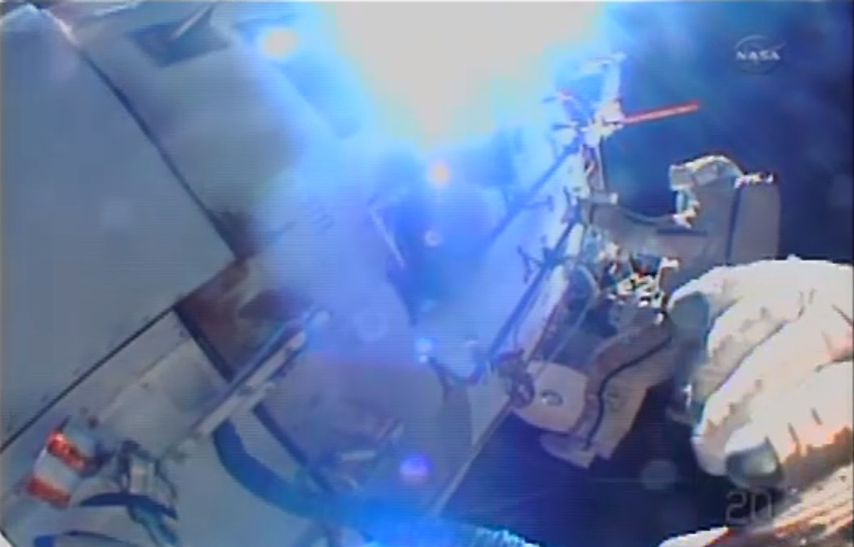 Expedition 38 Spacewalk to Install HD Cameras