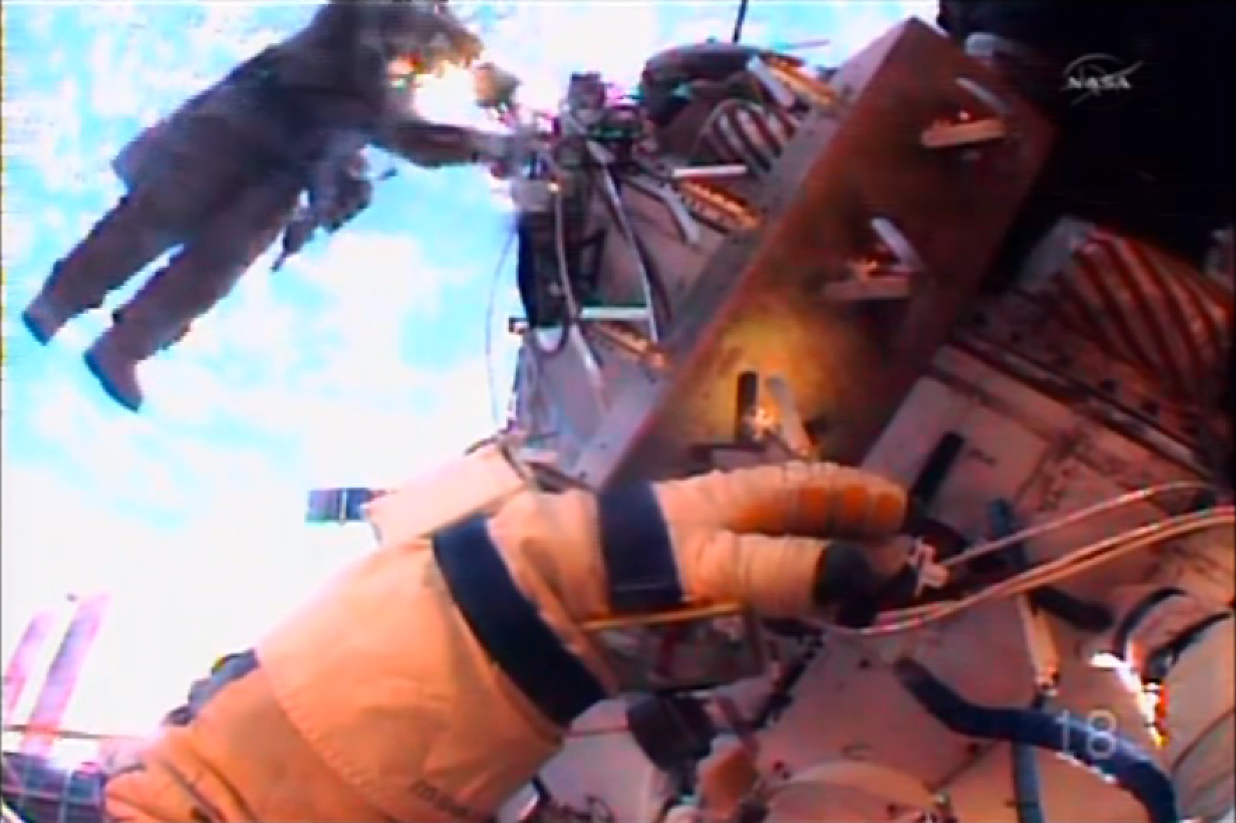 Cosmonauts Spacewalk to Install HD Cameras on ISS