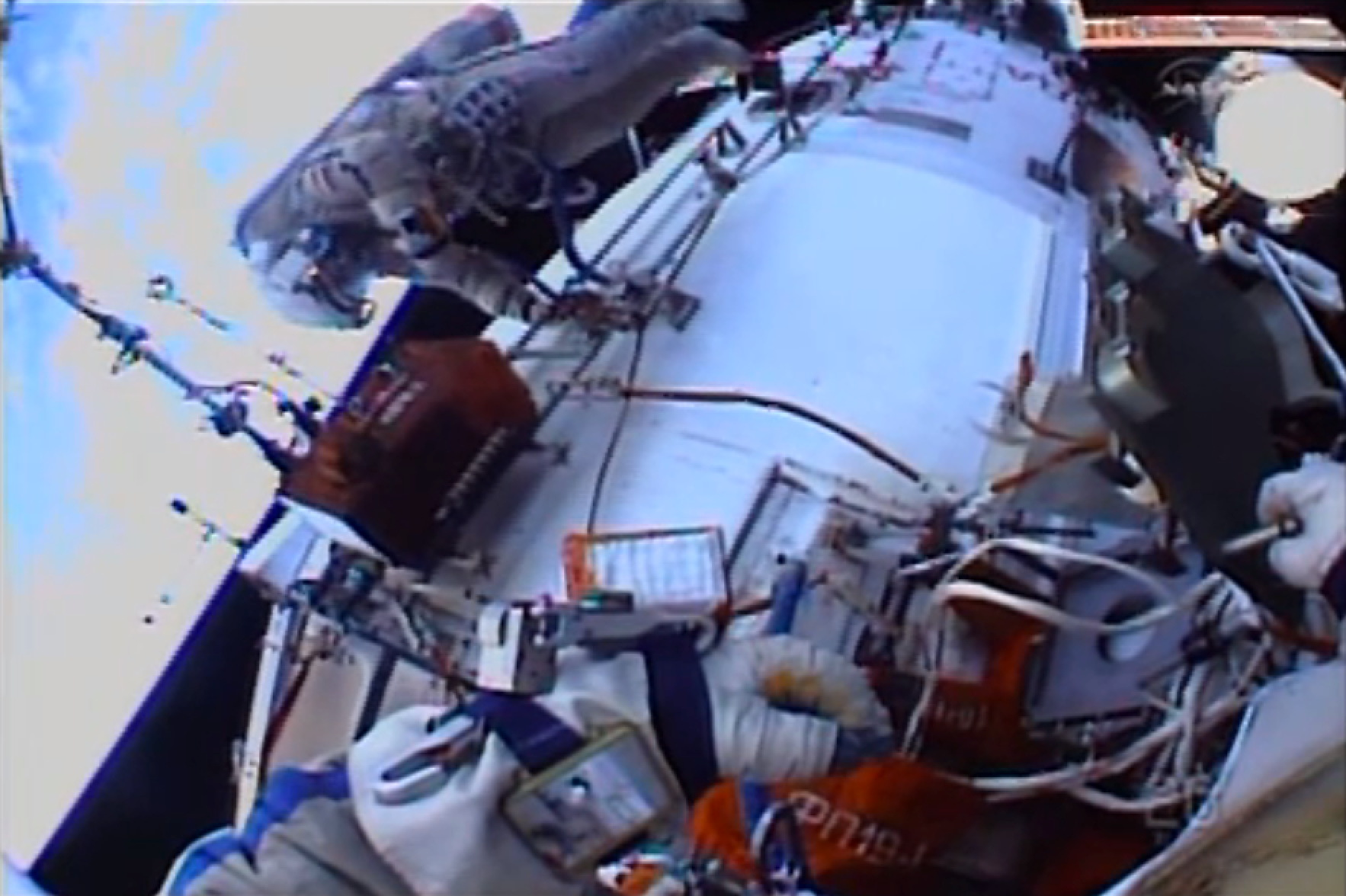 Spacewalk to Install HD Cameras