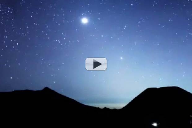 Rare Zodiacal Light + Milky Way Backlight 3 Volcanoes | Timelapse Video