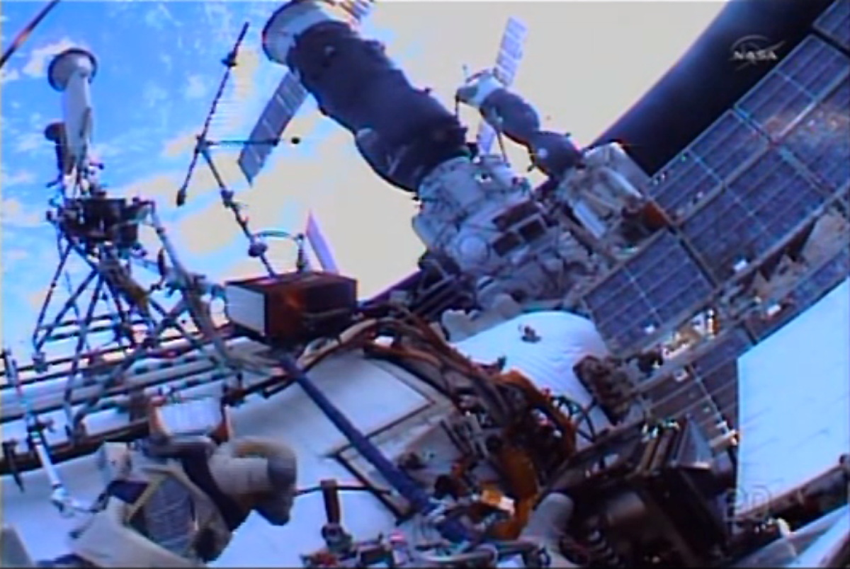 Russian Spacewalk Continues