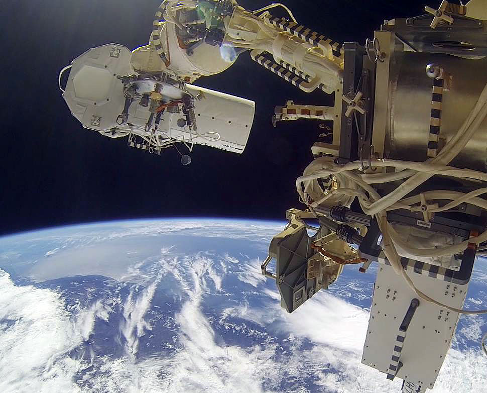 Cosmonauts Repeat Spacewalk to Add Earth-viewing Cameras to Space Station