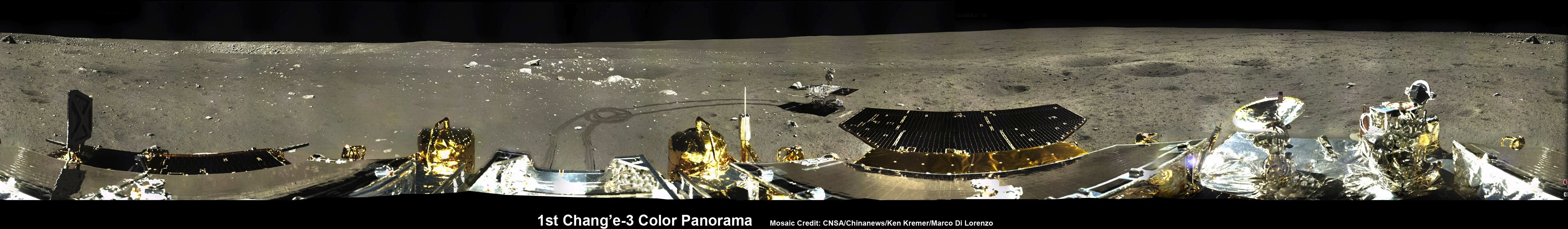 Stunning Panoramas Put China's Moon Rover and Lander in Lunar Spotlight (Photos)