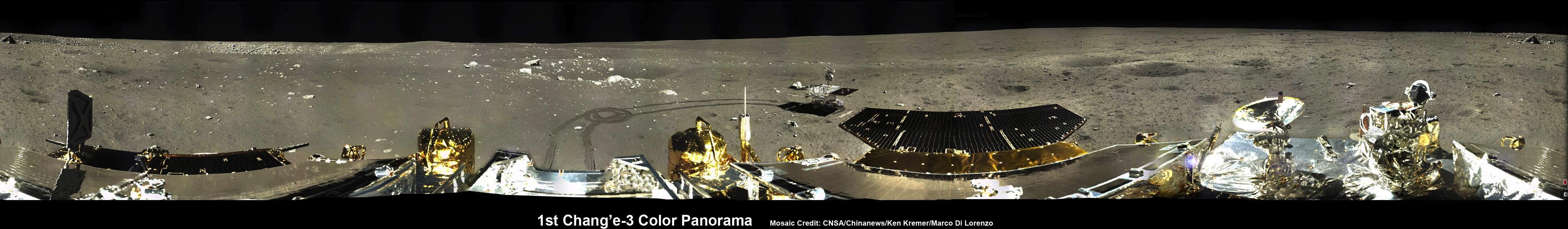 Stunning Panoramas Put China's Moon Rover and Lander in Lunar Spotlight (Photos)