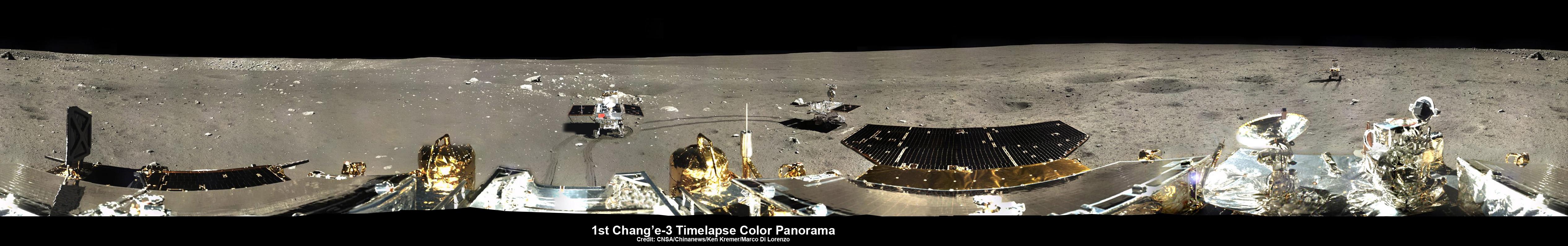 Chang'e-3, Yutu Rover Time-Lapse Panoramic