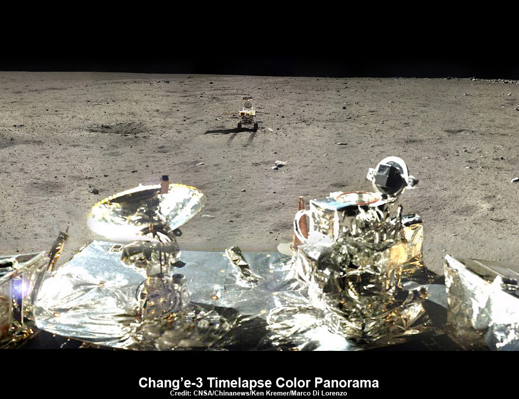 Yutu Rover Departs Landing Site in Time-Lapse Panoramic