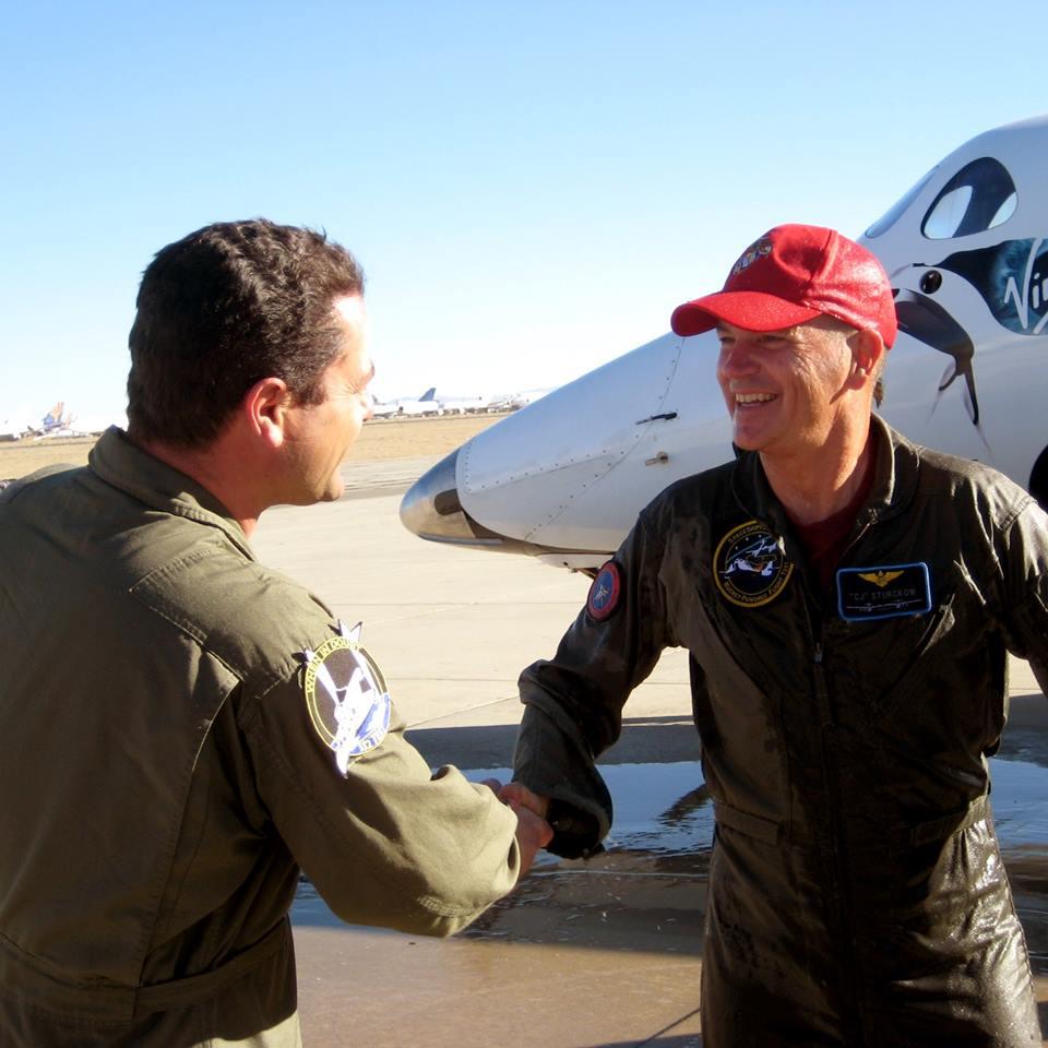 NASA Astronaut Rick Struckow Flies SpaceShipTwo