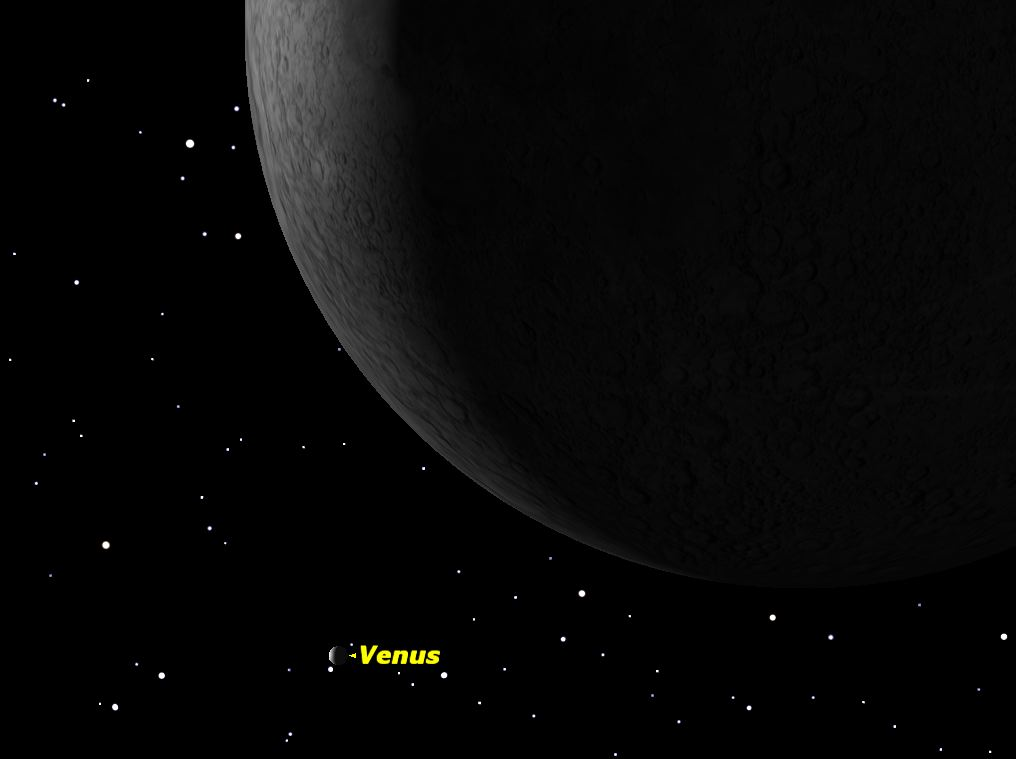 The Moon Close to Venus