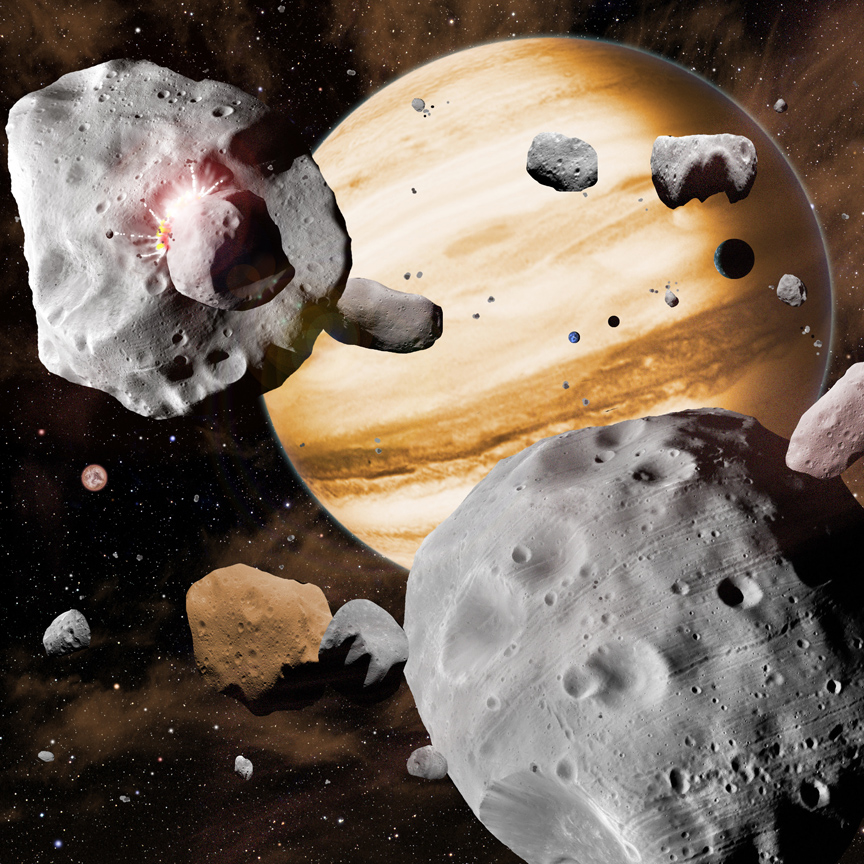 Asteroid Belt Reveals Drama of Early Solar System Evolution