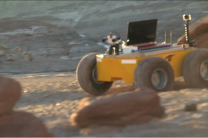 The RoadNarrows Kuon rover: a prototype, large-scale, multipurpose, wheeled, payload platform.