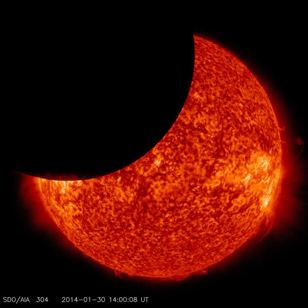 Lunar Transit Seen by Solar Dynamics Observatory