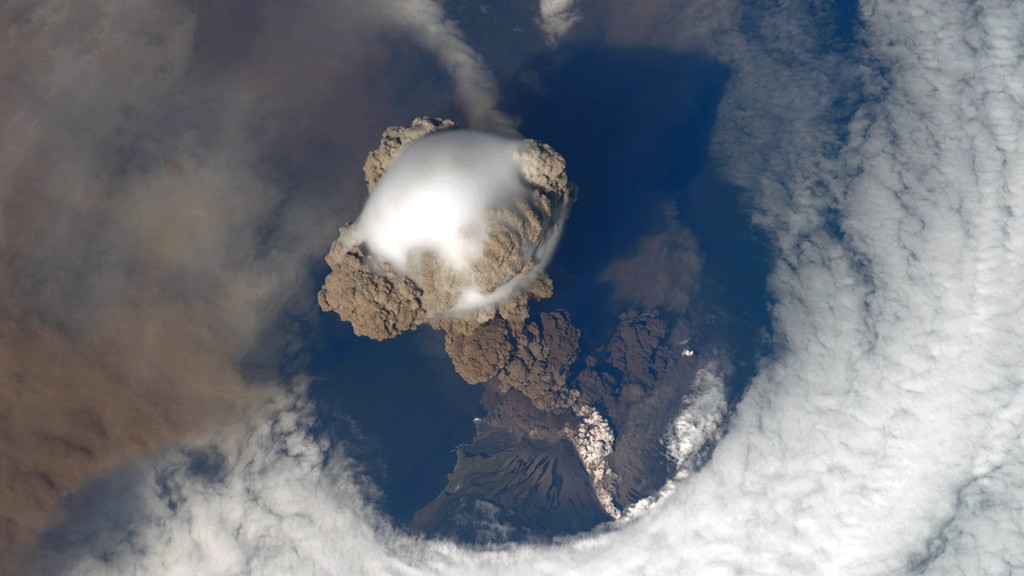 NASA Video Captures Stunning Volcano Eruption View from Space