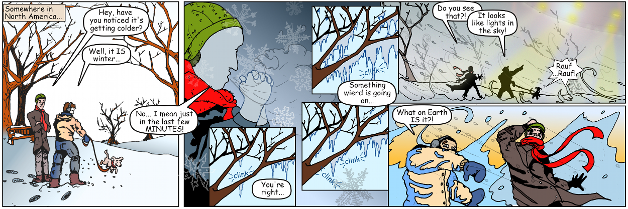 'Abominable Snow Aliens' Comic Strip Explores Life on Earth During Alien Invasion