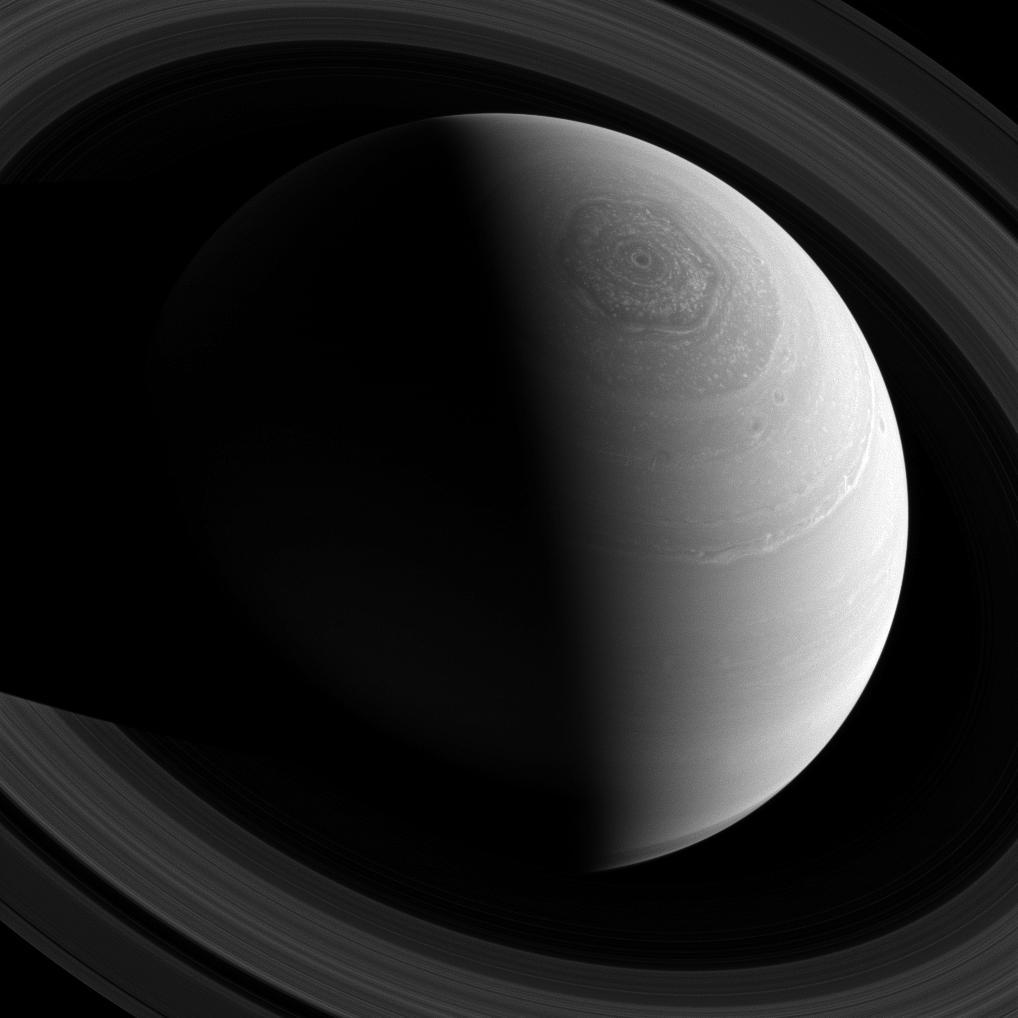 Strange Saturn Vortex Swirls in Amazing NASA Photo