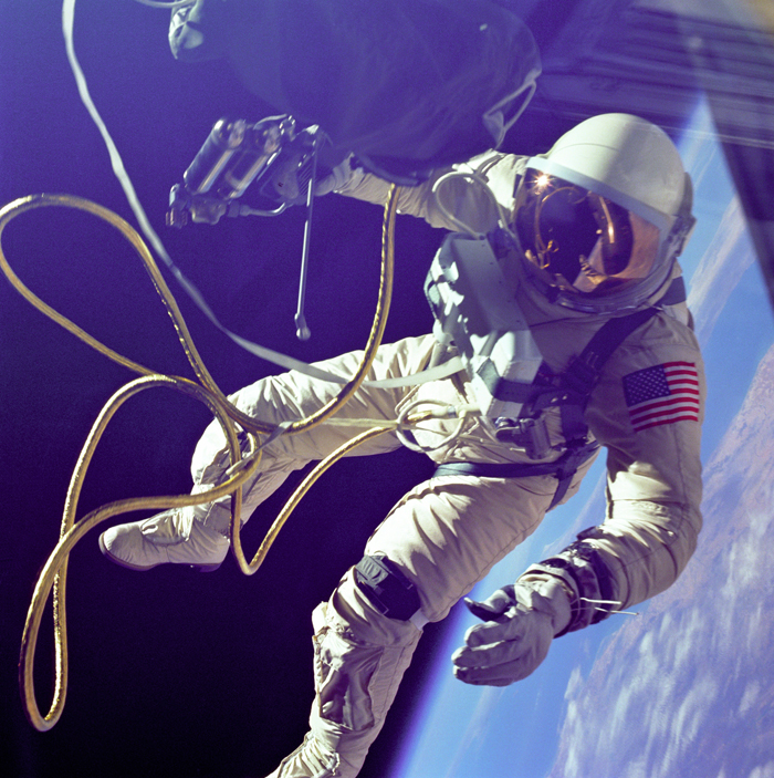 Space History Photo: Ed White First American Spacewalker
