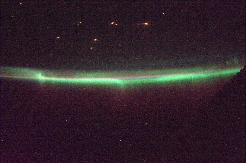 Northern Lights from Space: Koichi Wakata