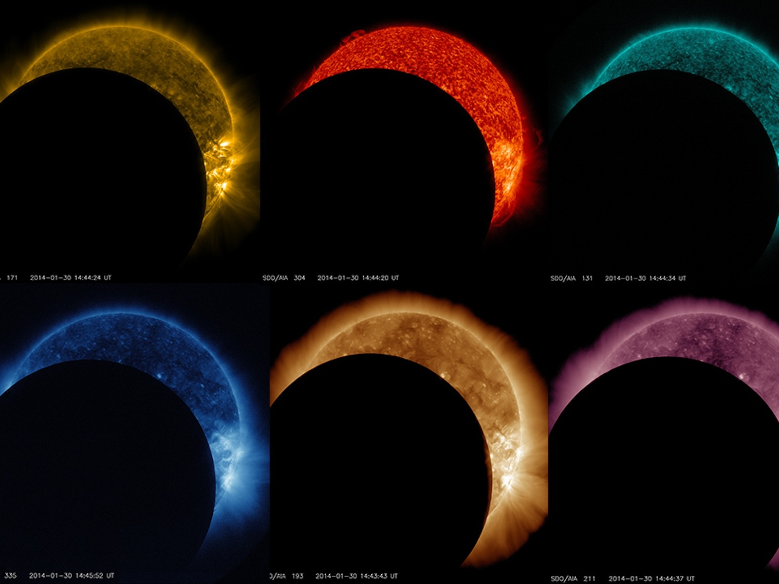 Rainbow of Lunar Transits | Space Wallpaper