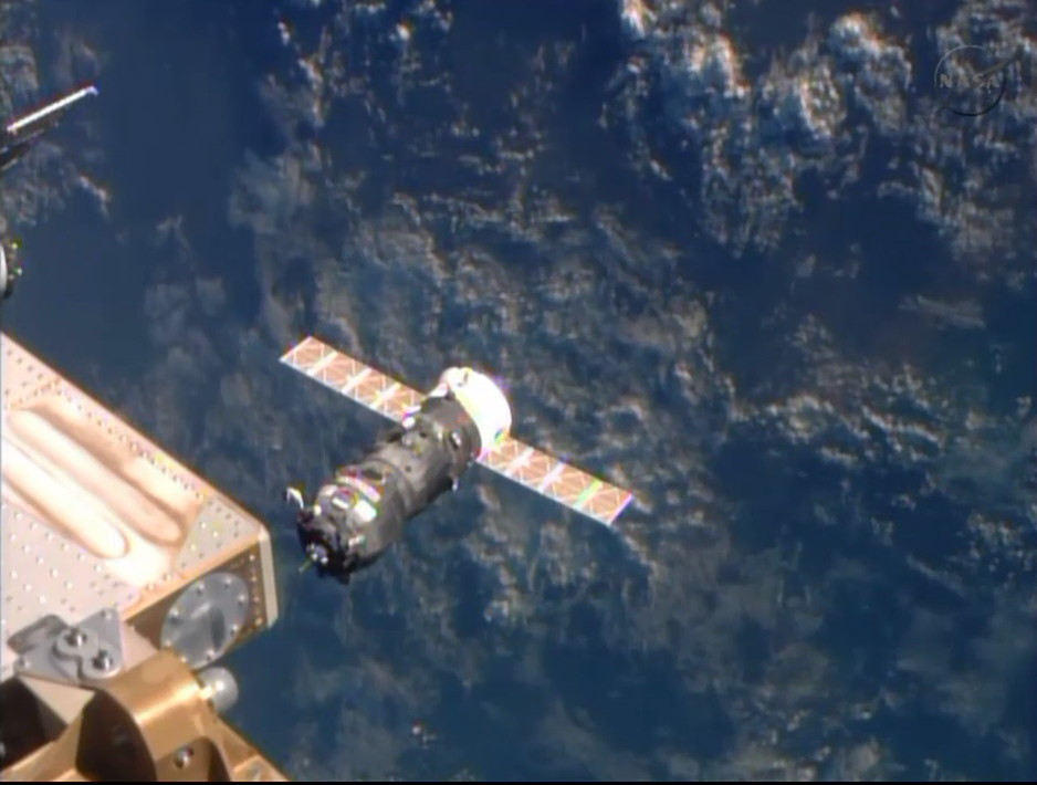 Robotic Russian Cargo Ship Docks with Space Station after Express Flight