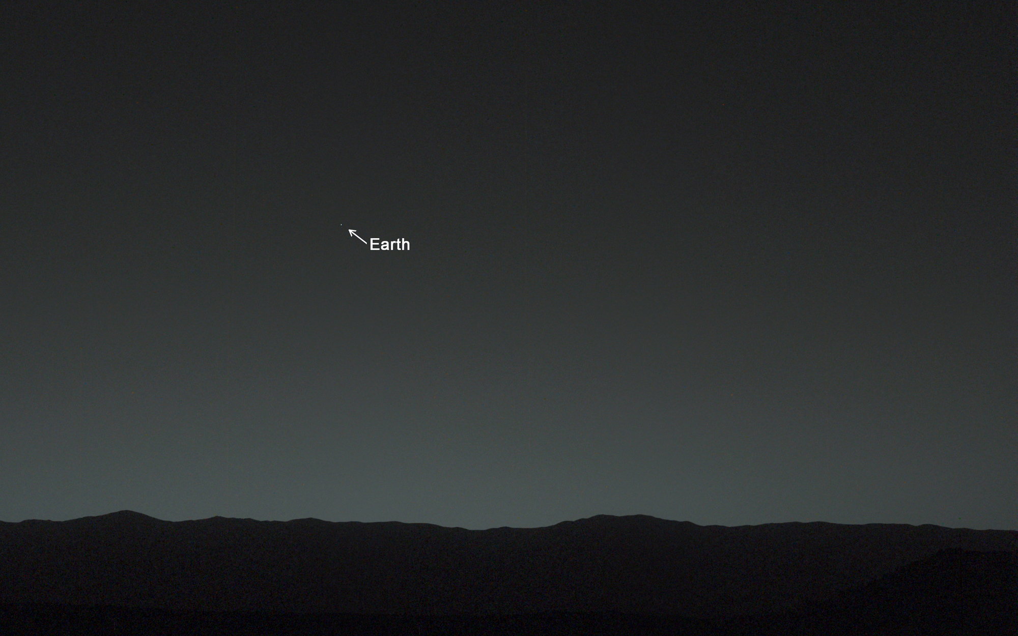 Earth from Mars by NASA's Curiosity Rover
