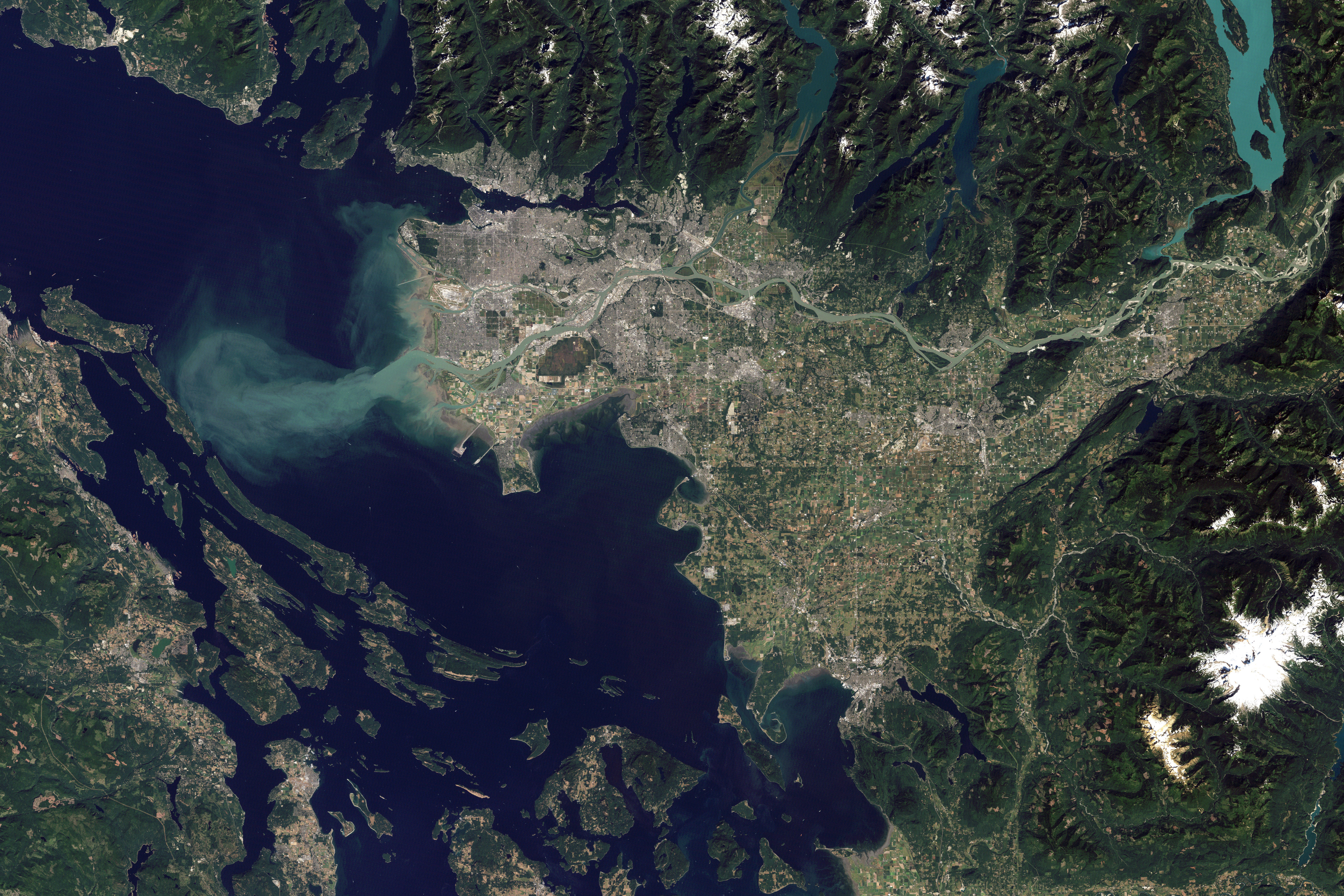 Winter Olympics City: Vancouver View from Space