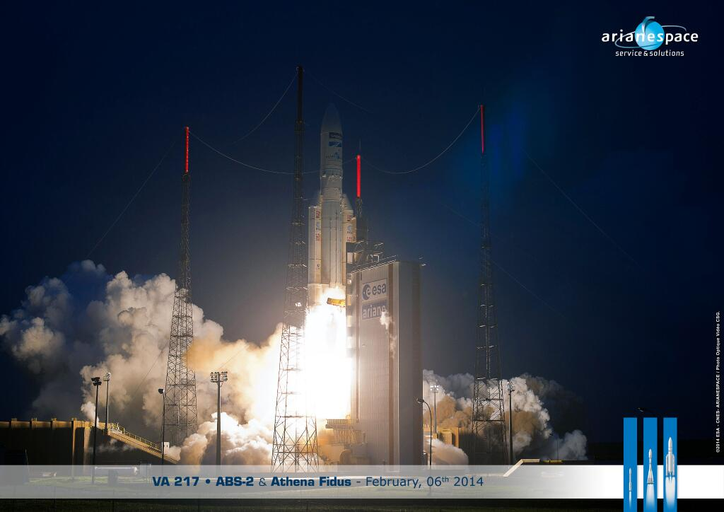 Ariane 5 Rocket Blasts Off on 250th Launch with 2 Satellites