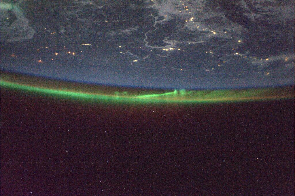 Koichi Wakata: Aurora Over Russia