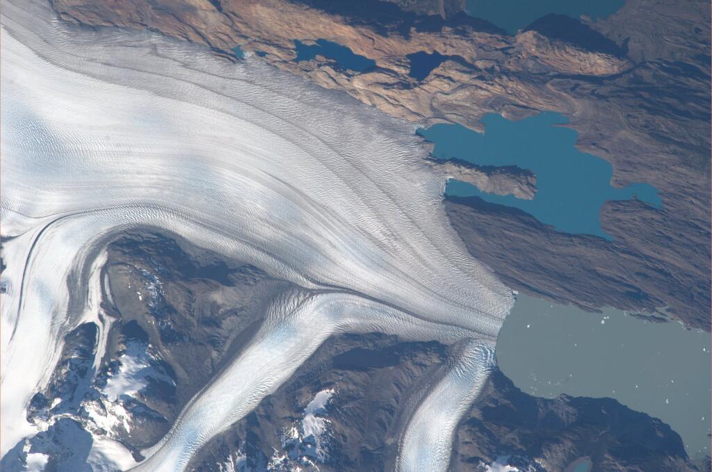 Koichi Wakata: Stunning Glacier Seen from Space