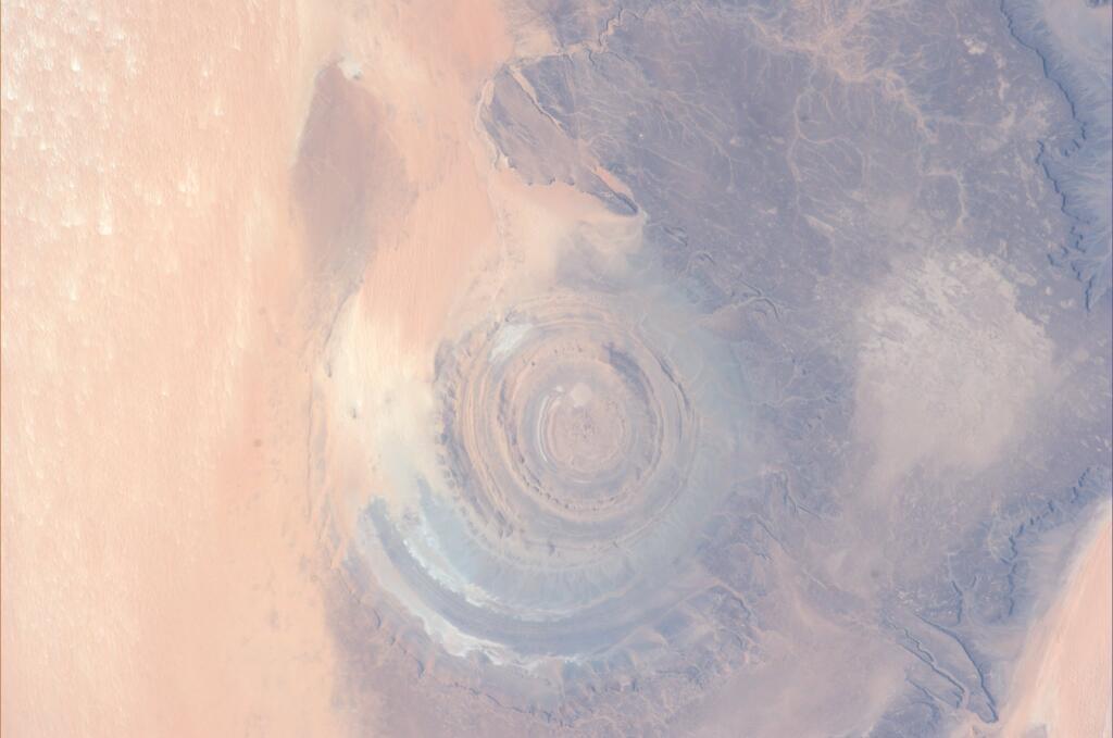 Koichi Wakata: Eye of Sahara in Mauritania