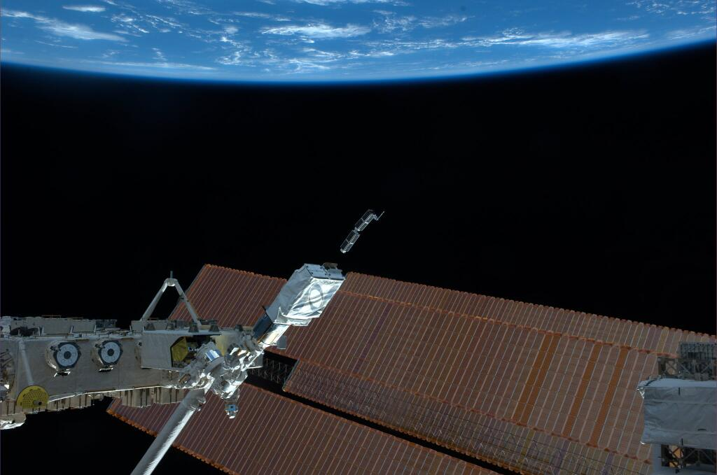 Cubesats Launch from ISS on Feb. 11, 2014