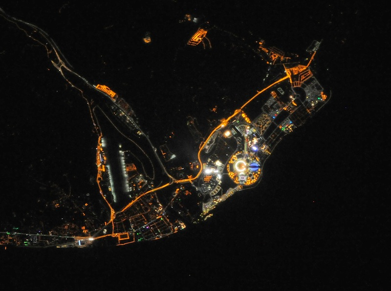 Wow! Sochi Winter Olympics Park Seen from Space at Night (Photo)
