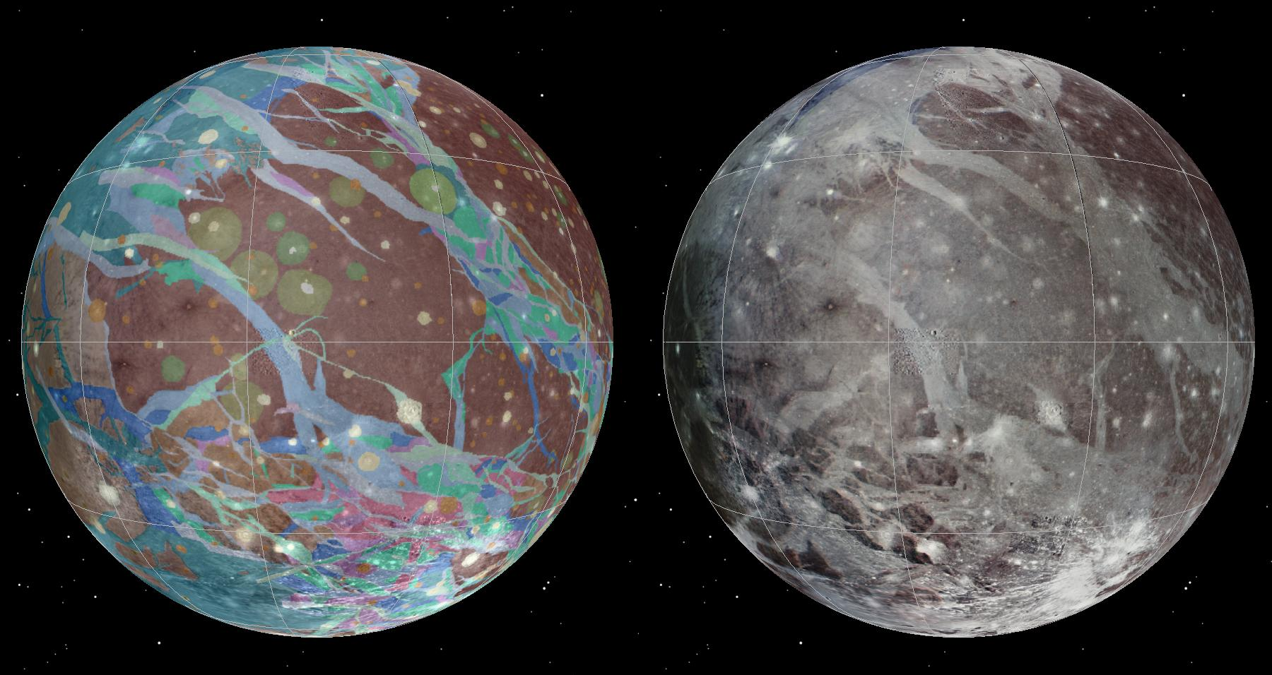 First Map of Jupiter's Giant Moon Ganymede Unveiled (Photos, Video)